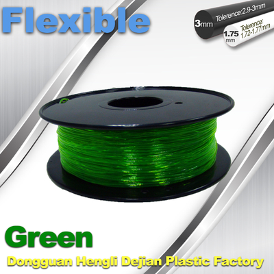 Trung Quốc Green 0.8kg / Roll Flexible 3D Printer Filament Environmentally Friendly nhà cung cấp