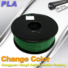 Trung Quốc 1.75 / 3.0mm 3D Printing PLA Filament , Color Changing Filament  Blue Green to Yellow Green nhà cung cấp