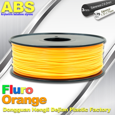 Trung Quốc Eco Friendly ABS 3D Printer Filament 1.75mm Fluro Orange 3D Printing Filament nhà cung cấp