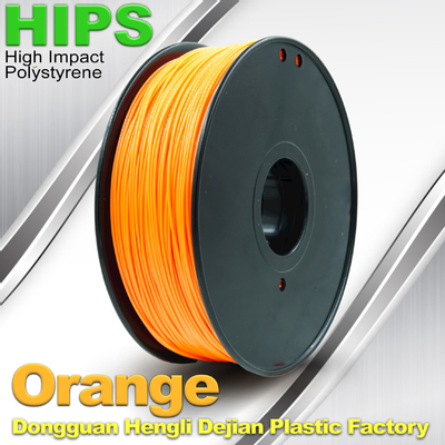Trung Quốc Markerbot , Cubify  3D Printing Materials HIPS Filament 1.75mm / 3.0mm Orange Color nhà cung cấp