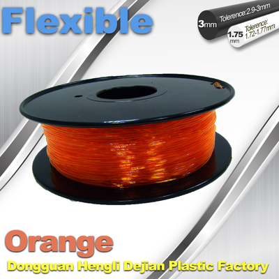 Trung Quốc Orange Flexible 3D Printer Filament Consumables With Great Adhesion nhà cung cấp