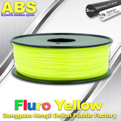 Fluorescent ABS 3d Printer Filament ABS 3D Printing Material For Desktop Printer
