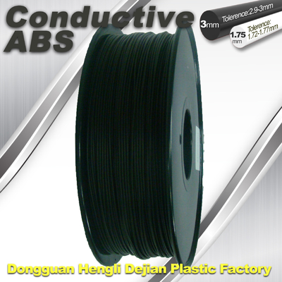 Good elasticity universal ABS Conductive 3d Printer Filament in Black