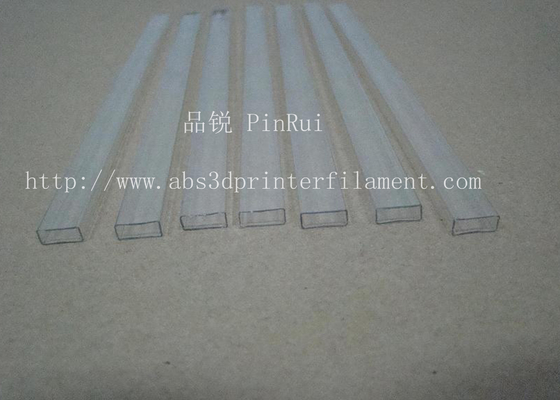 Transparent Square PC Hard Plastic Tubes For Electronic Appliances , Lighting Non - toxic
